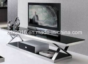 TV Stand / Living Room Furniture / Stainless Steel Table / Home Furniture / Modern Table / Glass Table / Tempered Glass Table Dg012 pictures & photos
