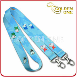 Promotional Gift Sublimation PVC Neck Lanyard with Double Metal Clips pictures & photos