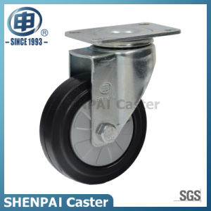 "4"" Black Rubber Swivel Caster Wheel pictures & photos"