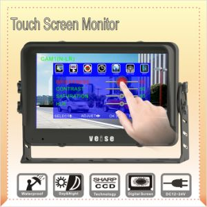 Touch Screen DC8~32 Volt Reverse Monitor with 2 AV Inputs pictures & photos