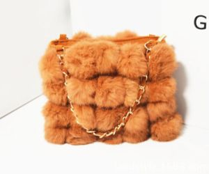 New Fashion Ladies Simple Genuine Rabbit Fur Bag pictures & photos