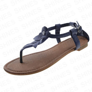 Fashion Sandal with Flower PU Upper for Women pictures & photos
