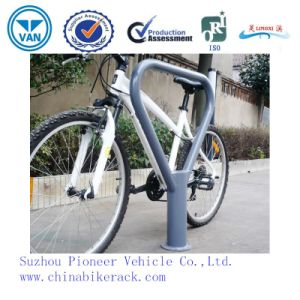 One Bike Triangle Bollard Type Bike Parking Rack pictures & photos