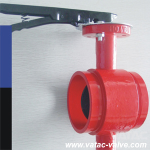 1.6 MPa/Pn16 Dn50~Dn1000 Clamped X Grooved Cast Grey Iron Gg25 Butterfly Valve pictures & photos