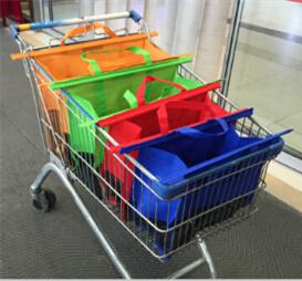 Foldable Supermarket Trolley Bag/Reusable Trolley Shopping Cart Bag