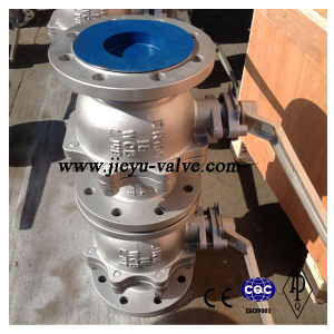 DIN Worm Operated Flanged Floating Ball Valve pictures & photos