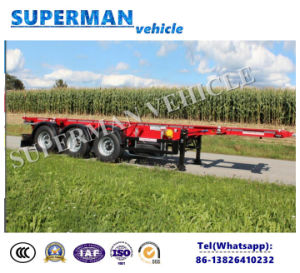 Europe Tri-Axle 40FT Skeletal Container Truck Semi Trailer pictures & photos
