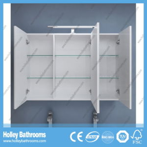 High Ending Stone Bathroom Vanity with Two Side Vanity and Two Basins (BF116N) pictures & photos