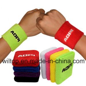 100% Cotton Promotional Sport Wristbands (LP013) pictures & photos