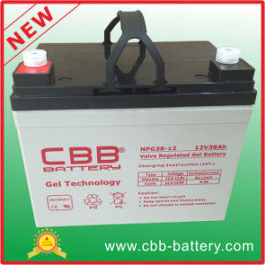 Cbb Wholesale 12V 38ah Solar Gel Battery for Sweeper pictures & photos