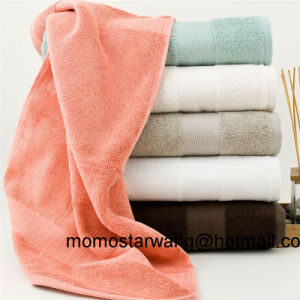 Qualified Wholesale Bamboo Bath Towels with Dobby Border pictures & photos