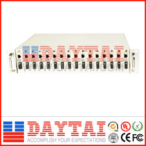 16 Ports Roak Mounted Converter Chassis for Media Use pictures & photos