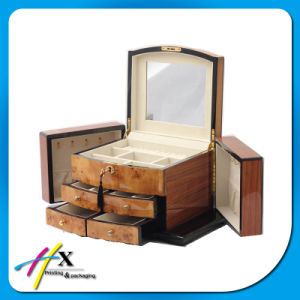 Wooden Jewelry Storage Case W/Drawer Glass Top Box and Display pictures & photos