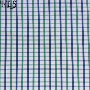 100% Cotton Poplin Woven Yarn Dyed Fabric for Shirts/Dress Rls40-23po