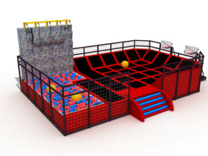 Kaiqi Climbing Wall and Trampoline Park Playground for Children and Adults (KQ60154B) pictures & photos