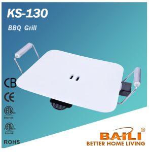 Electric Non-Stick Indoor BBQ Grill with Handle, Griddle pictures & photos