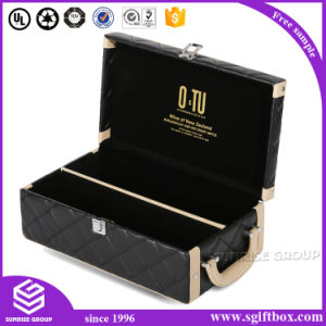 High Quality Custom Foldable Display Packaging Leather Wine Box pictures & photos