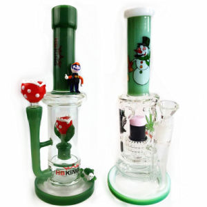 Hbking 10inch 5mm Thickness Classic Beaker Base Colorful Glass Bowl Glass Water Pipe Smoking Water Pipe Glass Smoking Pipe with Ice Pinches pictures & photos