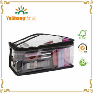 Custom Transparent PVC Cosmetic Bag with Top Handle pictures & photos