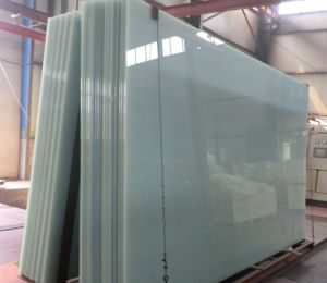 Large Size Laminated Glass with Solid Milk White or Translucent pictures & photos