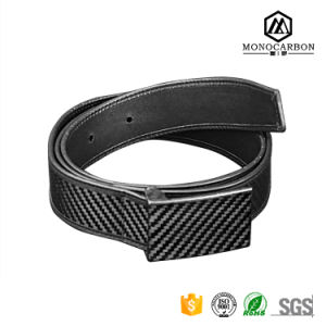 Adjuastble Length Luxury Genuine Leather Carbon Fiber Belt for Men with Buckle pictures & photos