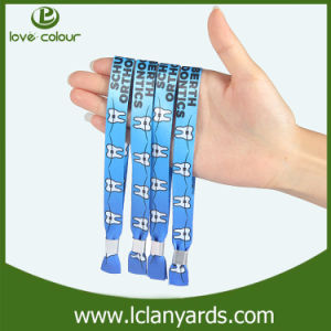 OEM Sublimation Safety Customized Fabric Wristband with Black Smartlock pictures & photos