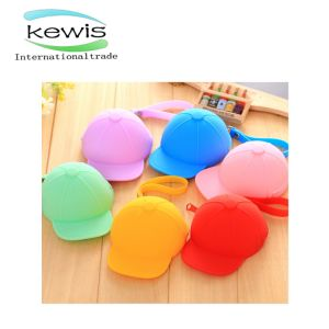 Wholesale Cute Candy-Colored Durable Silicone Baseball Cap Women Purse pictures & photos