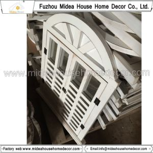 Antique Vintage White Handmade Decorative Wooden Window Shutter Mirror pictures & photos