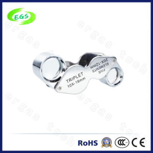 Great Value Loupe & Magnifying Glass 10X 20X Twins Jewelry Loupe Magnifying Glasses Magnifier pictures & photos
