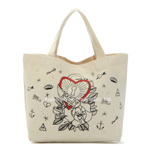 Customized Promotional Organic Shopping Tote Cotton Bag (CBG040) pictures & photos