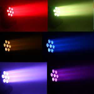 New Products 7PCS 12W RGBW Mini LED Moving Head Light pictures & photos