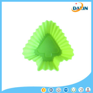 Wholesale Non-Stick Food Grade Tree Shape Silicone Cup Cake Mold pictures & photos
