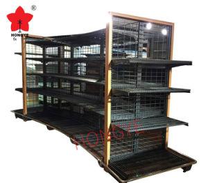 Wire Mesh Back Gondola Supermarket Shelf Rack pictures & photos