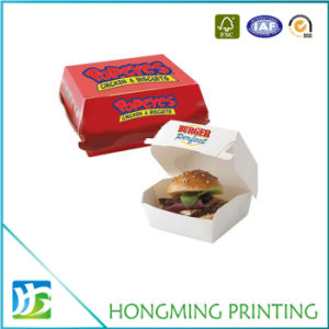 Foldable Food Grade Paper Hamburger Box pictures & photos