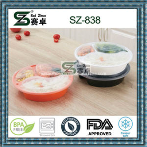 Round 3 Compartment Food Grade Disposable Food Storage Container pictures & photos