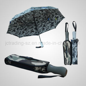 3 Folding Automatic Open&Close Storm Golf Umbrella Rain/Sun Umbrella (JF-AGF309) pictures & photos