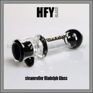 Hfy Glass Steamroller Illadelph Chillum Glass Pipe Black Onie Hand Pipe Smoking Chillum pictures & photos