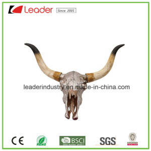 Polyresin Bull Skull Head Sculpture Figurine for Home and Wall Decoration pictures & photos