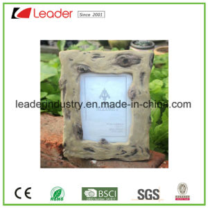 Polyresin Decorative Wood-Look Picture Frame for Home and Table Decoration pictures & photos