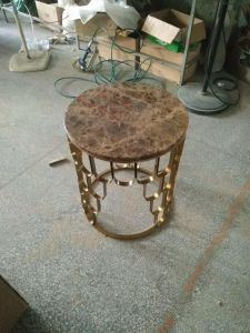 Stainless Steel Frame with Nature Marble Coffee Table pictures & photos