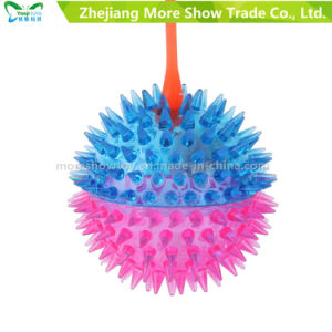 Novelty Colorful Puffer Yoyo Spicky Toys Light up Ball pictures & photos