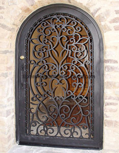 Good Price Iron Custom Single Entry Door for Garden pictures & photos