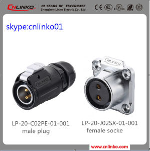 IP67 2pin Outdoor Electrial Power Waterproof Connector pictures & photos