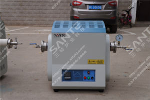 1300c Vacuum Alumina Tube Furnace with Sic Heating Elements pictures & photos