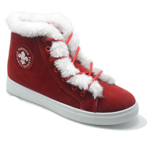 New Design Boots Cotton Padded Shoes Plush Fation Women Rubber Shoes pictures & photos