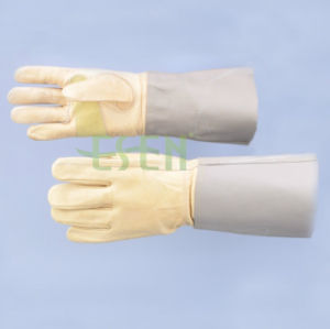Whosale Full Plam Safety Work Welder Gloves Cow Split Leather Welding Leather Gloves pictures & photos