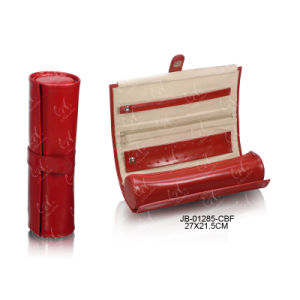 Red Leather Jewelry Set Roll with Packing Bag pictures & photos