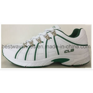 PU Leather Racing Shoes for Men pictures & photos