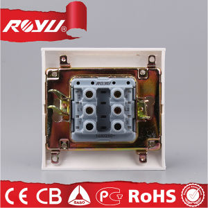 220V High Quality 2 Gang 2 Way Modular Wall Switches pictures & photos