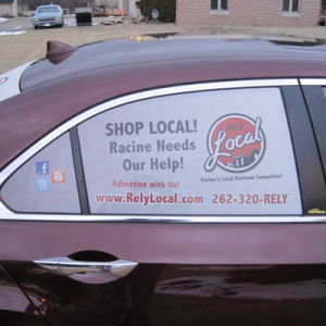 High Quality Advertising Graphics Car One Way Vision Window Film pictures & photos